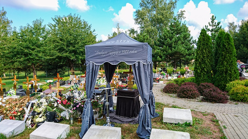 namioty pogrzebowe nad urnę