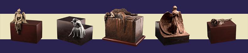 drewniane urny pogrzebowe